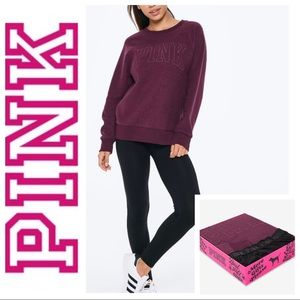NEW PINK Victoria's Secret Leggings & SWEATER Set